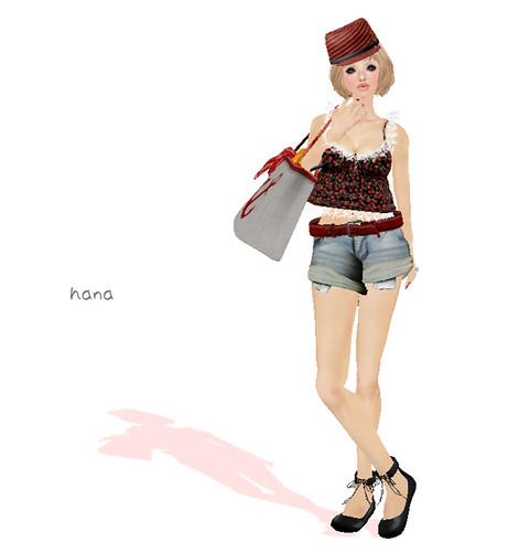 ***Ambrosia***cherry camisole[black]