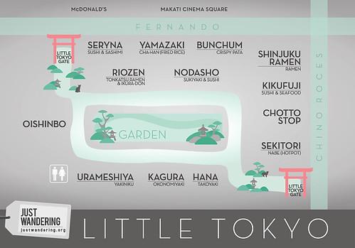 Just Wandering Little Tokyo Map