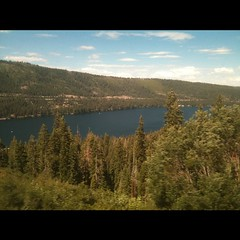 View of donner lake from California zephyr train