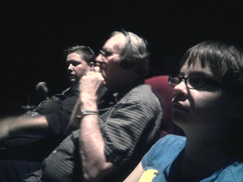 Grandfather is at the movies. Win!