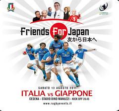 Cariparma test Match Italia vs Giappone bill locandina poster