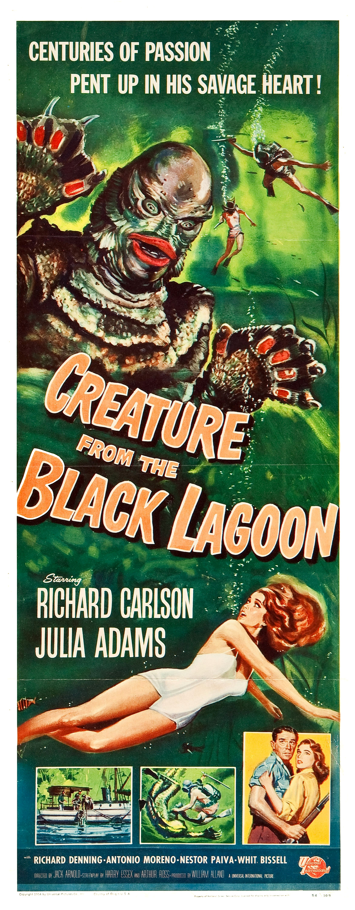 Reynold Brown - Creature From the Black Lagoon (Universal International, 1954) three sheet