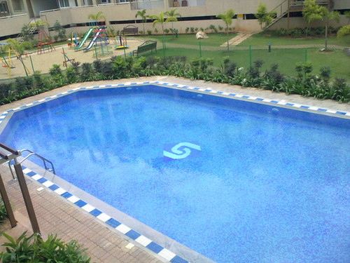 Swimming pool at Sriram Aditya Apartments.