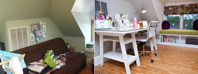 Before and After Desk Area