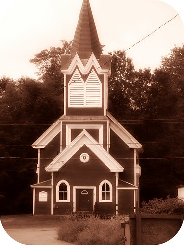 an old church in Monson, ME
