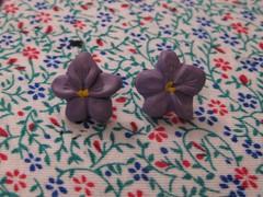 large violet earrings