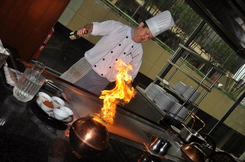 Teppanyaki flame