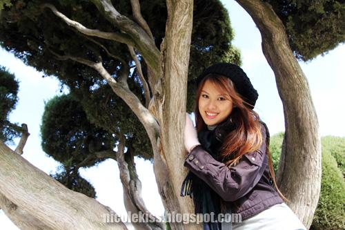 me at a tree bark