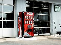 Coca-Cola (Franthropologist) Tags: newyork beverage longisland gasstation soda cocacola softdrink elmont selectivecoloring valleystream