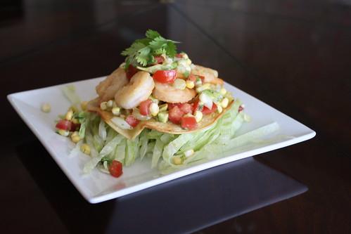 Shrimp Tostadas with Corn Salsa - Heather Christo
