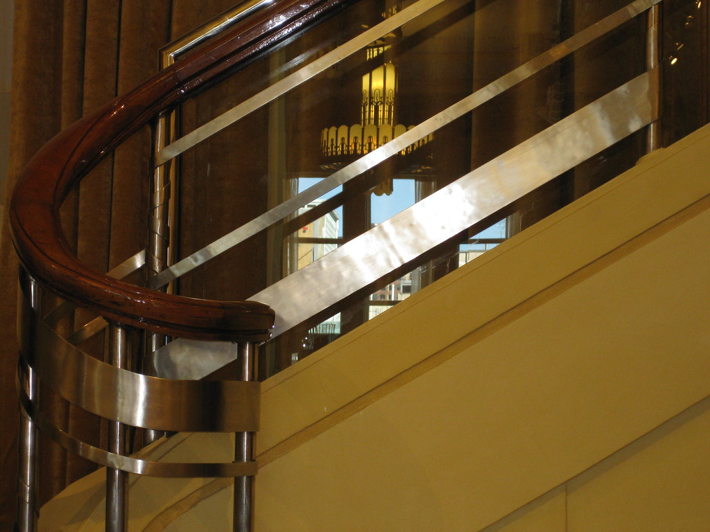 Detail of the Ballustrade of the Streamline Moderne Mannequin Stairs - Myer Emporium Mural Hall, Bourke Street, Melbourne