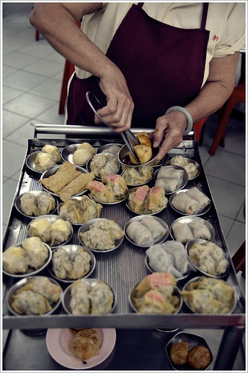 Serving Up the Dim Sum from the Cart