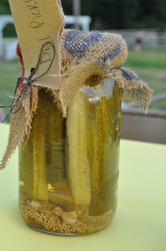 Pickles, doubling as tasty snack AND table decoration