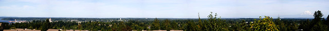 Mount Tahoma (Rainier, Ti'swaq') to Priest Point, Tumwater-Overlook-Park Panorama