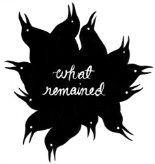 What remained (turkmenbashy) Tags: white black comic illustrations what minicomic remained