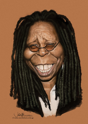 digital caricature of Whoopi Goldberg
