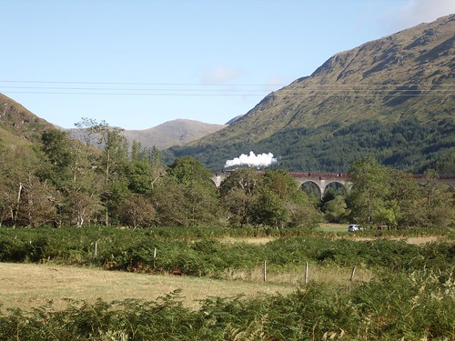 Glenfinnan viaduct and the Jacobite