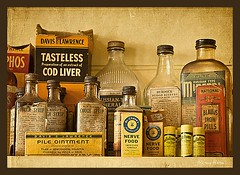 How are you feeling today?? (Nancy Rose) Tags: canada cars tourism village bottles antique 1940s medicine burdock pills sick jars carshow containers illness memorylane treatment coughsyrup pileointment novsscotia nervefood lakecharlotte ointments