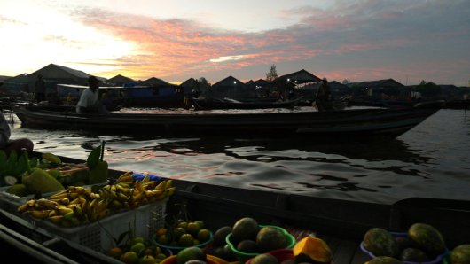 Breakfast by Boat in Banjarmasin, Indonesia