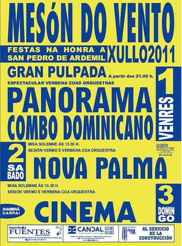 Ordes 2011 - Festas de San Pedro en Mesón do Vento - cartel
