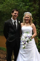 The Bride and the Minister (Just Katety) Tags: wedding jeff bride dress kentucky ky weddingdress bowlinggreen minister weddingflowers whitedress weddingmakeup weddinghair whiteweddingdress lostrivercave katety
