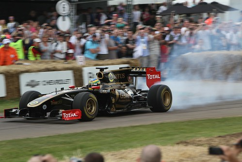 Bruno Senna in the Renault at Goodwood 2011