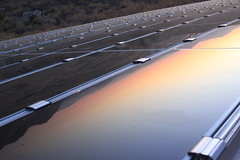 Sunset in Solar Panel (ToGa Wanderings) Tags: california sunset usa reflection solar afternoon panel southern late