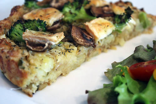 Broccoli and Mushroom Tart