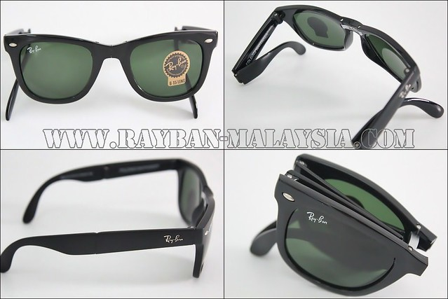 Wayfarer Folding Black Shinning