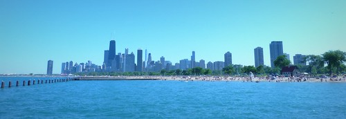 Chicago Skyline from North Ave. Beach