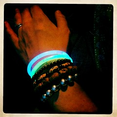 my bracelets; glowy and not