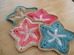 Free Crochet Starfish Dishcloth Pattern : Ravelry: Starfish Dishcloths pattern by Mary Ann Frits