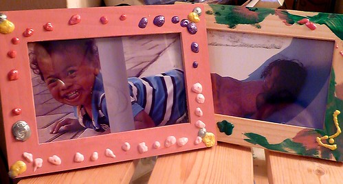 Three Dimensional Painted Wooded Picture Frame