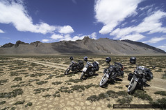 Plains (recaptured) Tags: mountains bike clouds interestingness skies leh himalayas ladakh enfield ultrawideangle magicdonkey explored moreplains