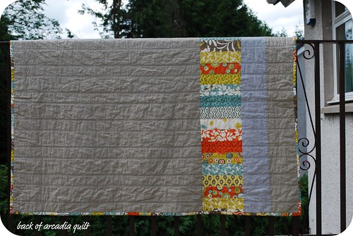 back of arcadia quilt