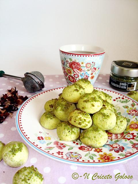 Biscottini riso e pistacchio