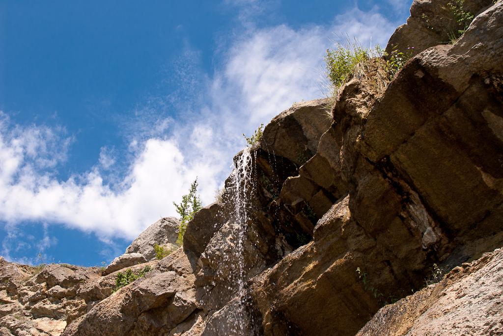 Krym. July. Waterfall.