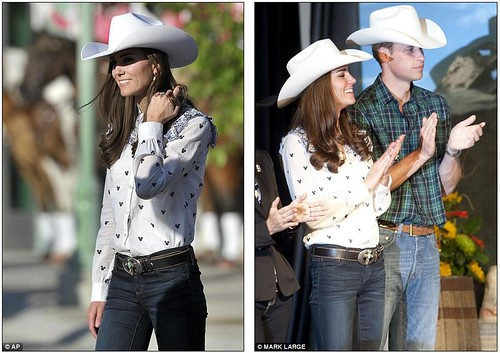 Wild Will Hickock and Calamity Kate cause a stampede as they don matching hats and get into the cowboy spirit   7