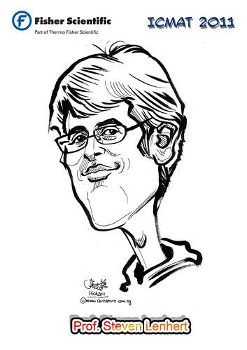 Caricature for Fisher Scientific - Prof. Steven Lenhert