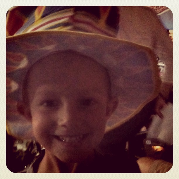 Adam with his circus hat