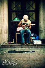 Basking Blues (relucent) Tags: travel summer portrait holiday london cool nikon guitar cd candid blues streetperformer 2010 basking ciggarette d700 2470mmf28g