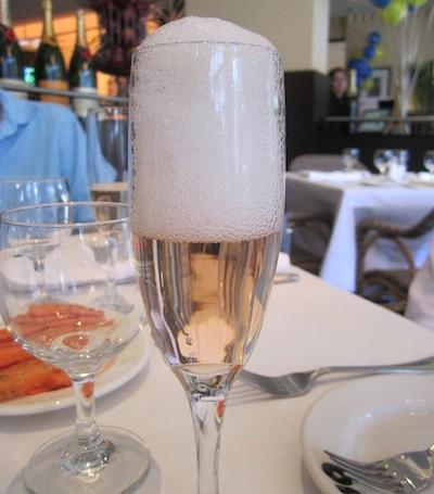 Pink bubbles, Brasserie Jo, Boston
