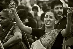 75:365! (Mad Angled) Tags: people woman lady canon pain fight protest scream srilanka 365 cry 500d tamils