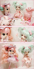 Beauty Saloon (Paula ~) Tags: pink cute doll pretty sweet stock mint dal lolita planning ap groove angelic jun coolcat obitsu leekeworld revoltech 23cm rewigged byul rechipped