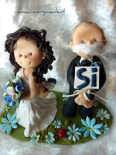 5925137985 d8b7524dd6 Wedding Cake Topper, Gli Sposi Per Torte Nuziali