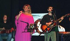 Acoustic Night in Firenze - da sinistra: Roberto Diana, Linda Valori, Simone Borghi
