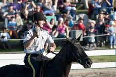 Equitation Skills Demonstration-Sword (Tawaw) Tags: horses canada flag ottawa police rcmp equestrian stetson mounties mountedpolice royalcanadianmountedpolice policehorses musicalride redserge canadianpolicecollege