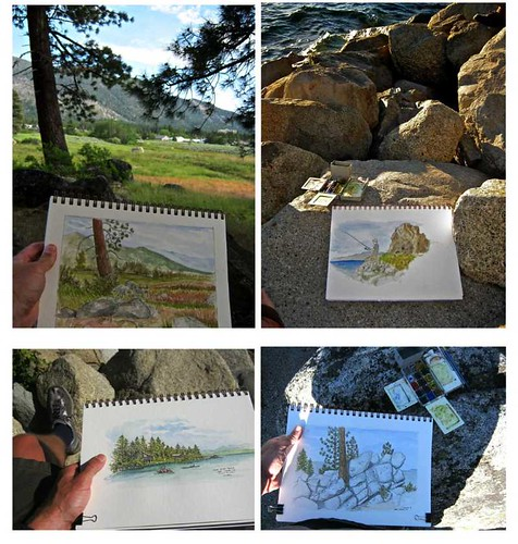 sketching in Tahoe region