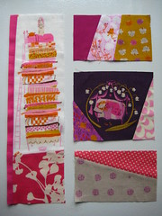 Kitchen Window quilt block #1 (parkerbuttons) Tags: pink sleeping window kitchen beauty japanese ross elizabeth purple quilt amy princess heather away frog butler cutting mustard block wildflowers dots pea coriander far fussy kona cerise hartman mulberry wallflower ffa picstosort ohfransson ffa2 parkerbuttons