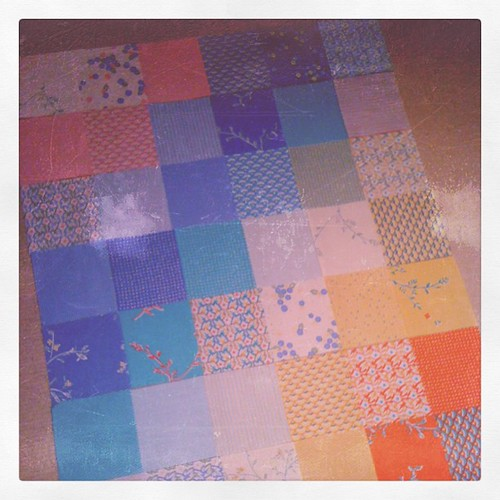 Sneak peek at quilt for the class I'm teaching later in the year
